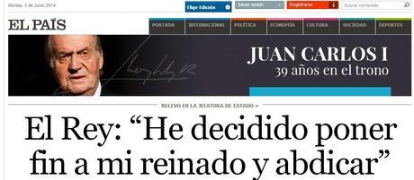 SOBRE LA ABDICACIÓN DEL REY DE ESPAÑA JUAN CARLOS I
