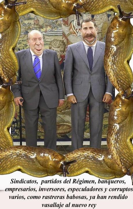 Sospechosa coincidencia de nacionalistas, banqueros y sindicatos del régimen: Felipe VI, rey por ley orgánica
