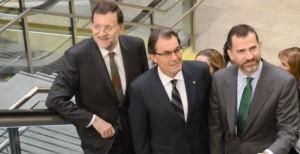 Rajoy, Artur Mas y Felipe VI: juntos y revueltos