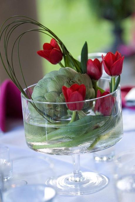 Centros de mesa cristal y flores naturales paperblog - Centros de mesa cristal ...