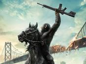 Caesar manda sobre caballo póster Amanecer Planeta Simios'