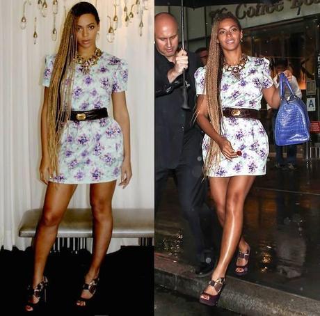 Beyoncé, con vestido de Mary Katrantzou.