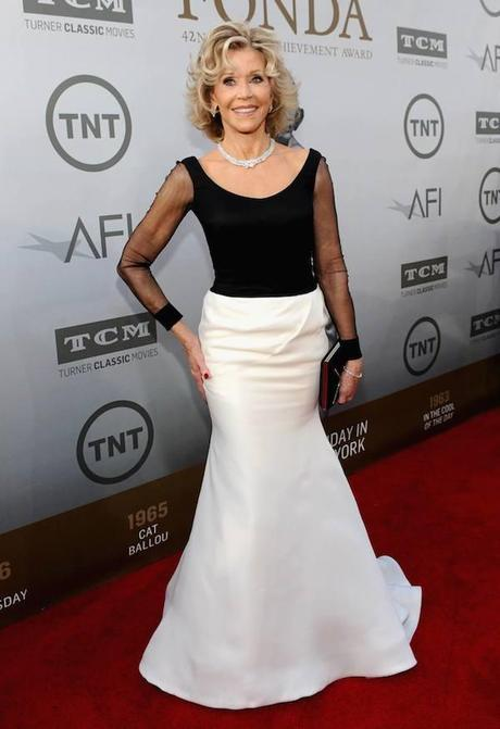 Jane Fonda, de Vera Wang, en la gala de los premios AFI en Los Ángeles.