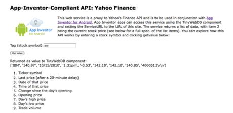 App Inventor  y las API