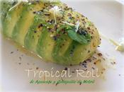 Tropical Roll Aguacate Quisquilla. #Gastroalmuñecar2014 #festivalronmontero.