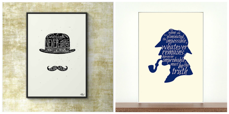 L minas decorativas inspiradas en la literatura paperblog - Laminas decorativas pared ...