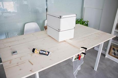 diy mesa de comedor de tableros de madera 25 aniversario