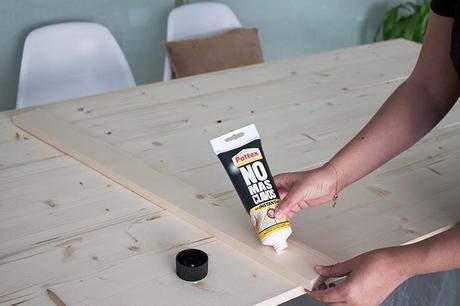 Diy mesa de comedor de tableros de madera 25 aniversario - Tablones de madera leroy merlin ...