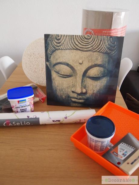 25 aniversario leroy merlin mi recibidor de estilo zen - Papel pintado sobre gotele ...