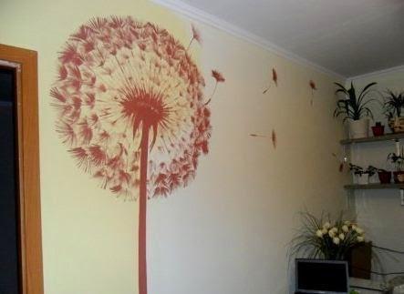 C mo hacer un dibujo decorativo en una pared paperblog - Como decorar un dibujo de una castana ...