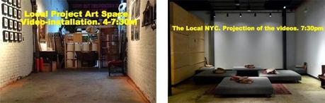 Under the Subway Video Art Night - Fourth edition 2014, and Ausín Sáinz in New York City.
