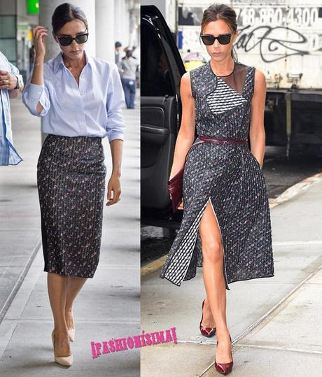 Victoria Beckham makes a JFK arrival with style **USA ONLY**