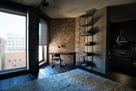 Loft minimalista en kiev paperblog for Casa minimalista industrial