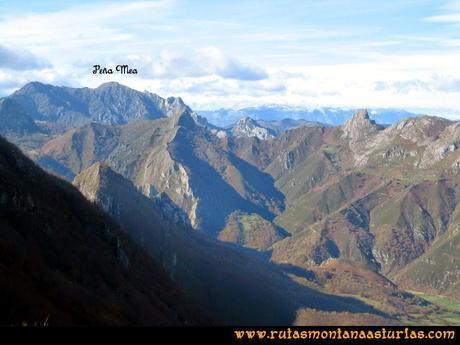 Ruta Cuyargayos: Vista de la Peña Mea