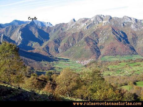Ruta Cuyargayos: Vista de Soto de Agues y Cogollo