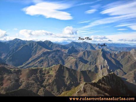 Ruta Cuyargayos: Vista de Peña Mea y Cogollo