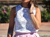 Outfit Lace pink skirt