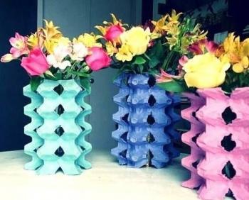 C mo decorar jarrones reciclando paperblog - Como decorar jarrones ...