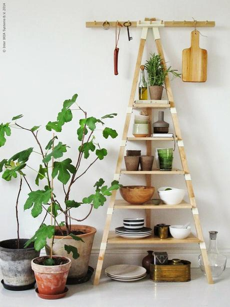 Estanteria ps 2014 de ikea ideal para la cocina paperblog - Estanteria escalera ikea ...