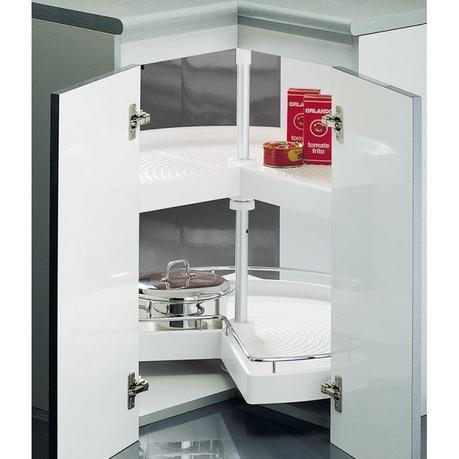Optimiza los armarios de rinc n en tu cocina paperblog - Armario esquinero cocina ...