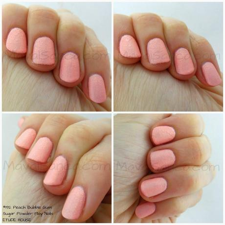 Peach Bubble Gum Sugar Powder Play Nails ETUDE HOUSE