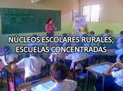 Núcleos escolares rurales; escuelas concentradas