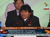 sesión plenaria Cumbre G-77 China Bolivia