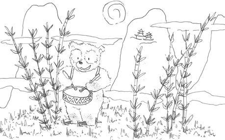 Un Oso Panda Para Colorear Paperblog