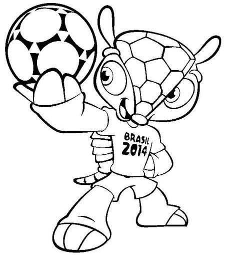 Dibujos del mundial de fútbol Brasil 2014 para colorear - Paperblog