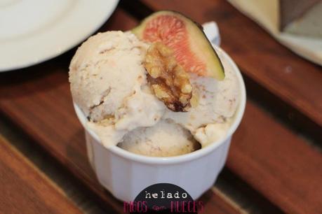 helado de higos con nueces