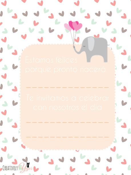 17 Invitaciones Baby Shower Elefante Para Imprimir
