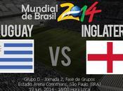 Partido Uruguay Inglaterra Grupo Mundial 2014