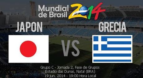 Partido Japon vs Grecia Grupo C Mundial 2014