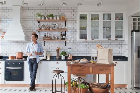 Cocinas con azulejos tipo metro para una atm sfera vintage - Azulejo metro cocina ...