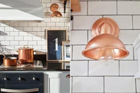 Cocinas con azulejos tipo metro para una atmósfera vintage ...