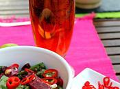 Ensalada espinacas, feta remolacha #ponunaensalada2014