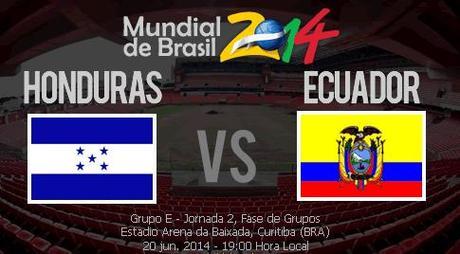 Partido Ecuador vs Honduras Grupo E Mundial 2014