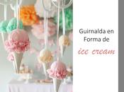 Diy......dulces guirnaldas forma cream