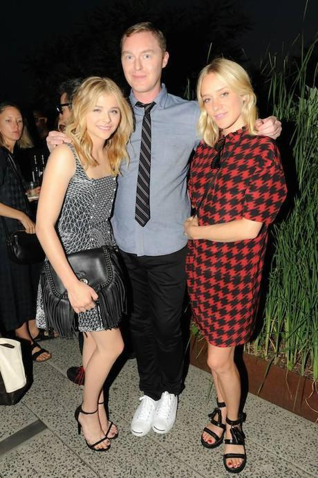 hloe Moretz, Stuart Vevers, and Chloe Sevigny at the Summer Party on the High Line, presented by Coach