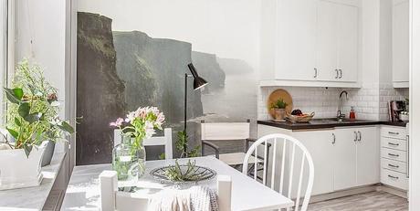 El encanto n rdico de un piso neutro en blanco y gris - Piso blanco y gris ...