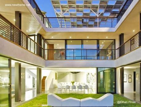 Casas modernas en im genes seleccionadas paperblog - Casas con patio interior ...
