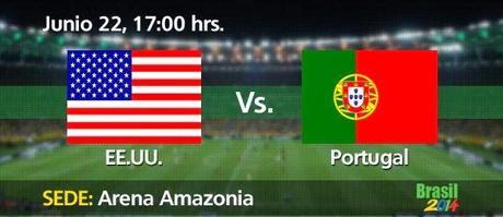 Partido Estados Unidos vs Portugal Grupo G Mundial 2014