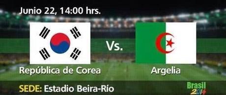 ver Corea Del Sur vs Argelia