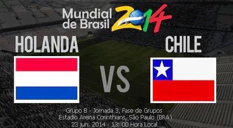 Partido Holanda Vs Chile Grupo B Mundial Brasil 2014