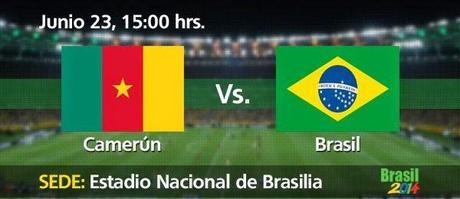 Partido Camerún Vs Brasil Grupo A Mundial Brasil 2014