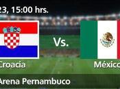 Partido Croacia México Grupo Mundial Brasil 2014