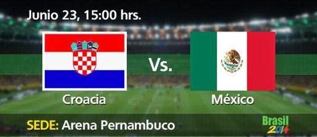 Partido Croacia vs México Grupo A Mundial Brasil 2014
