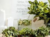 mesa informal verde para noche Juan