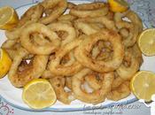 Calamares fritos tiernos rebozado crujiente