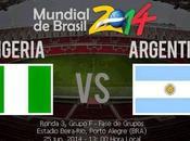 Partido Nigeria Argentina Grupo Mundial 2014